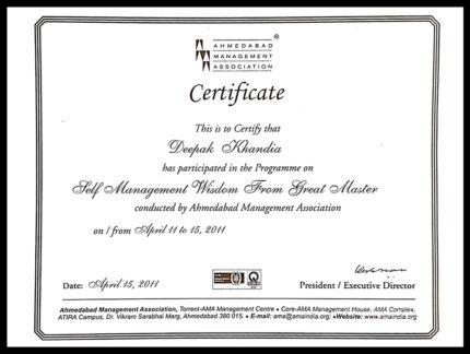 Deepak Khandla_Self Management Wisdom From Masters